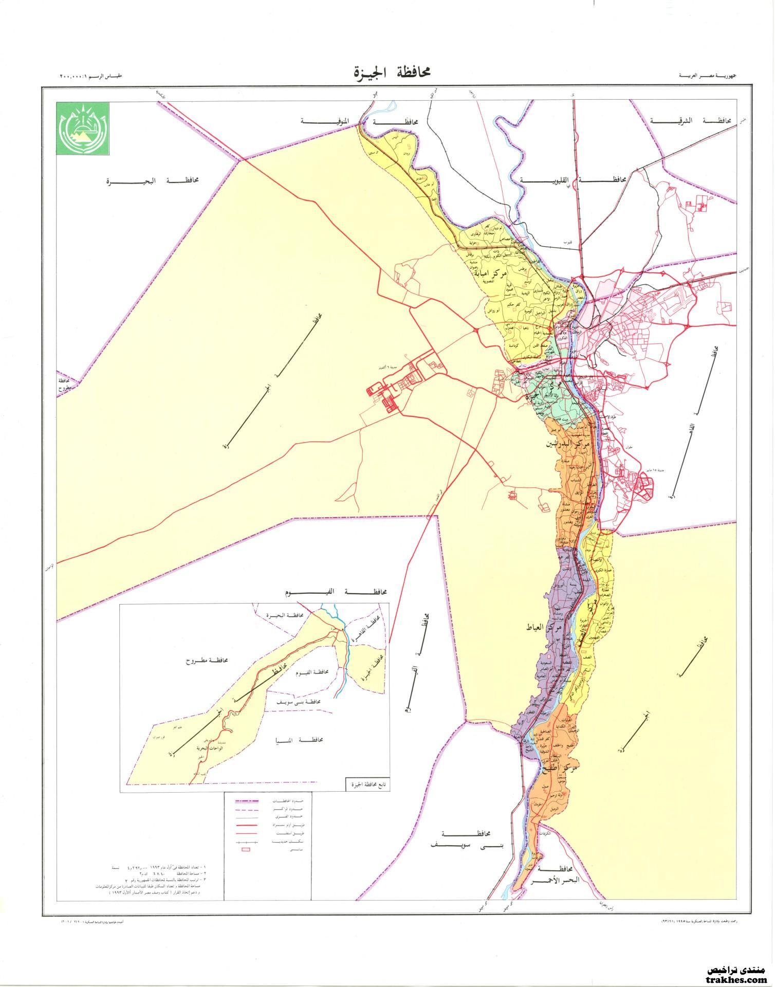 خريطة محافظة الجيزة